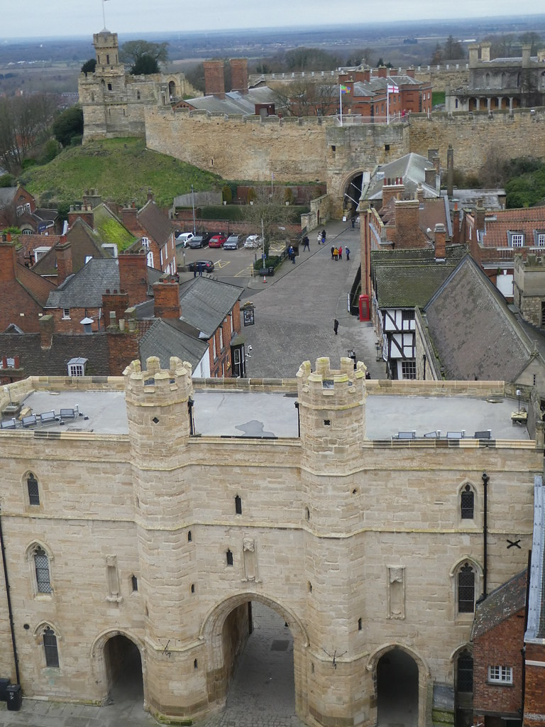 View of Lincoln Castle from Lincoln Cathedral rooftop