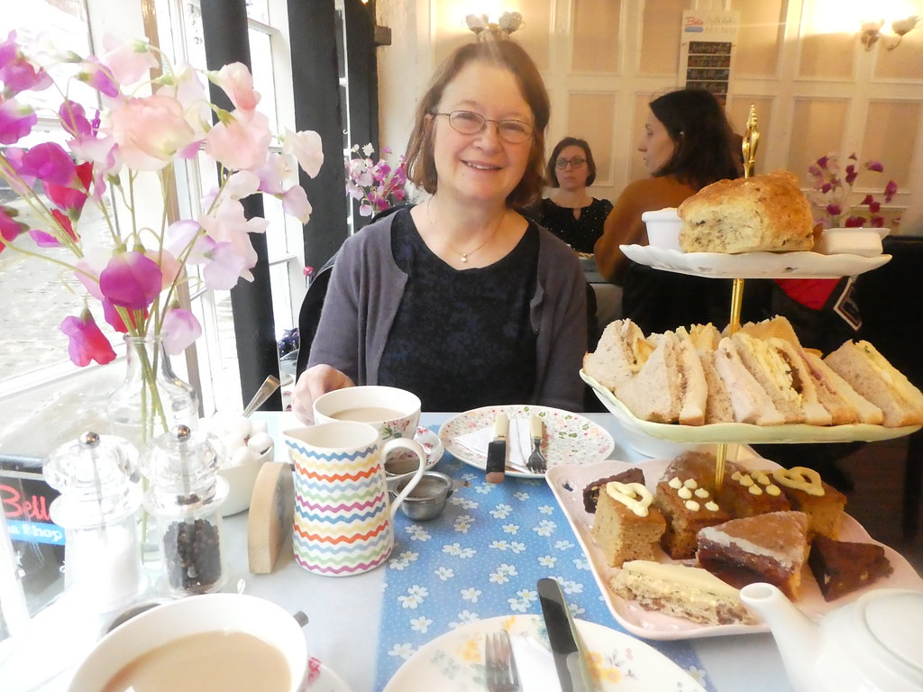 Afternoon tea at Bells Tea Shop, LIncoln