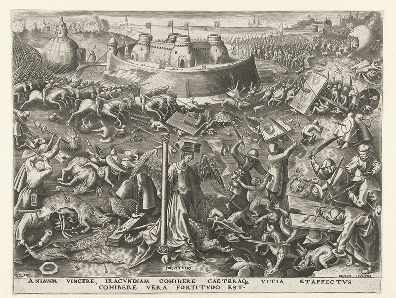 Philips Galle, After Pieter Bruegel the Elder - The Seven Virtues, Fortitude, 1560-62