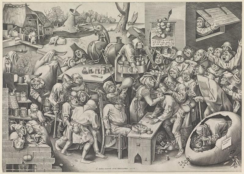 Pieter van der Heyden, After Pieter Bruegel the Elder - The Witch of Malleghem, 1559