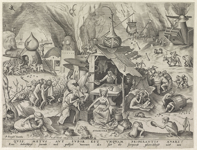 Pieter van der Heyden, After Pieter Bruegel the Elder - Avarice, 1558