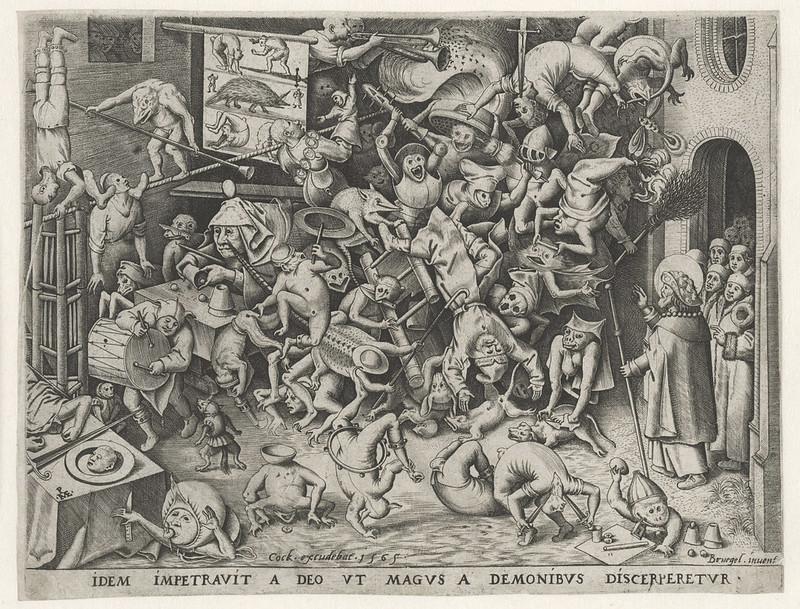 Pieter van der Heyden, After Pieter Bruegel the Elder - The Fall of the Magician, 1565