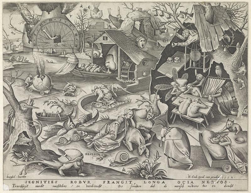 Pieter van der Heyden, After Pieter Bruegel the Elder - Sloth, 1558