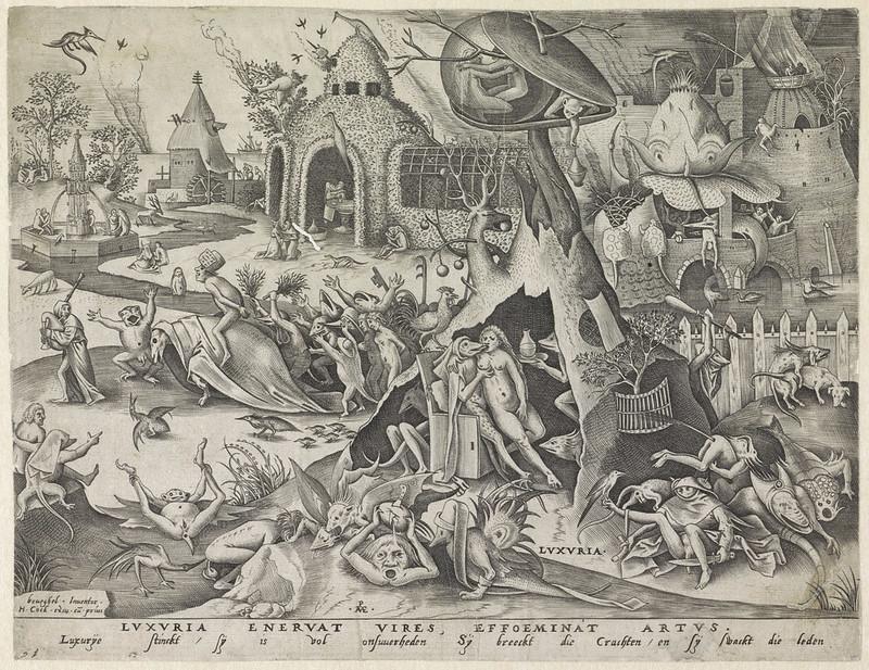 Pieter van der Heyden, After Pieter Bruegel the Elder - Lechery, 1558