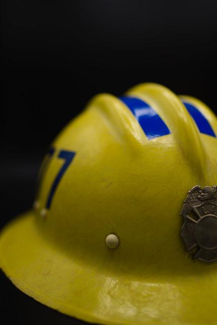 old LAFD helmet
