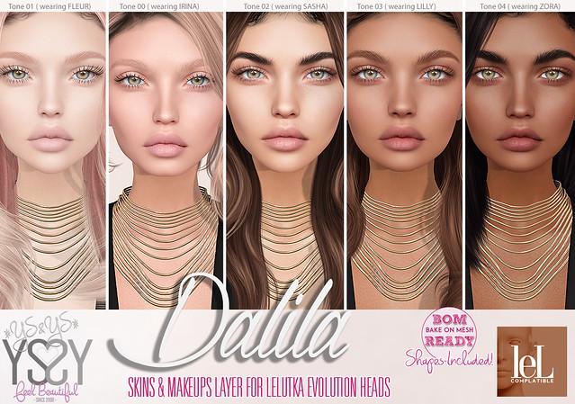 Dalila skin for Lelutka Evolution