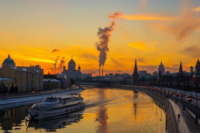 Evening in city