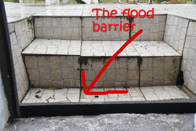The flood barrier