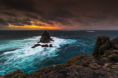 thearmedknight longshipslighthouse landsend cornwall england uk sunset seascape viewpoint waves rockstack coast penwithpeninsula canon 80d sigma 1020mm leefilters