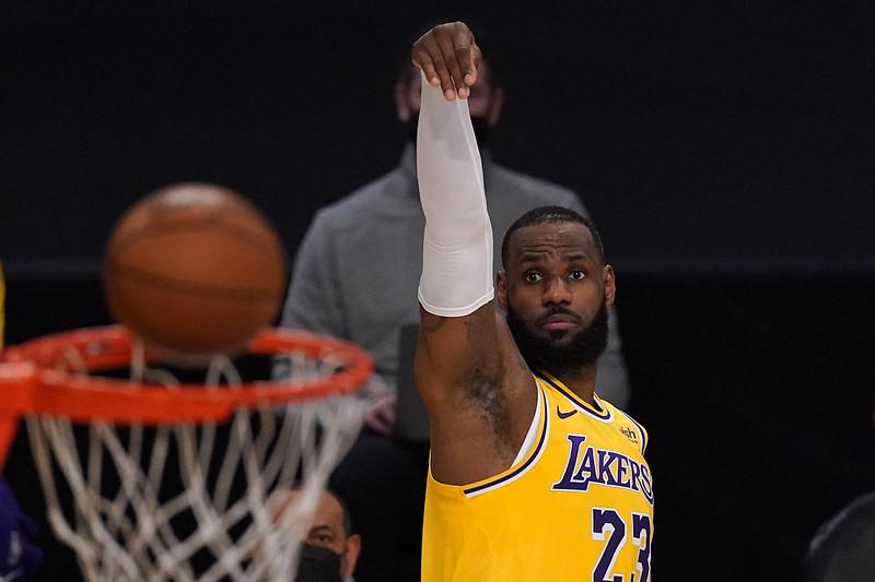 LeBron James演出攻下28分。(達志影像)