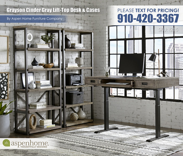 Grayson Lift Top Desk and Display Cases I215-360T_IUAB-301-1_333-CIN_BTY2