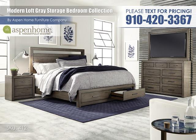 Modern Loft Gray Storage IML-R-415_407D_406_450_455_487-GRY_Open