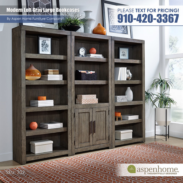 Modern Loft Bookcases IML-R-332_333-GRY