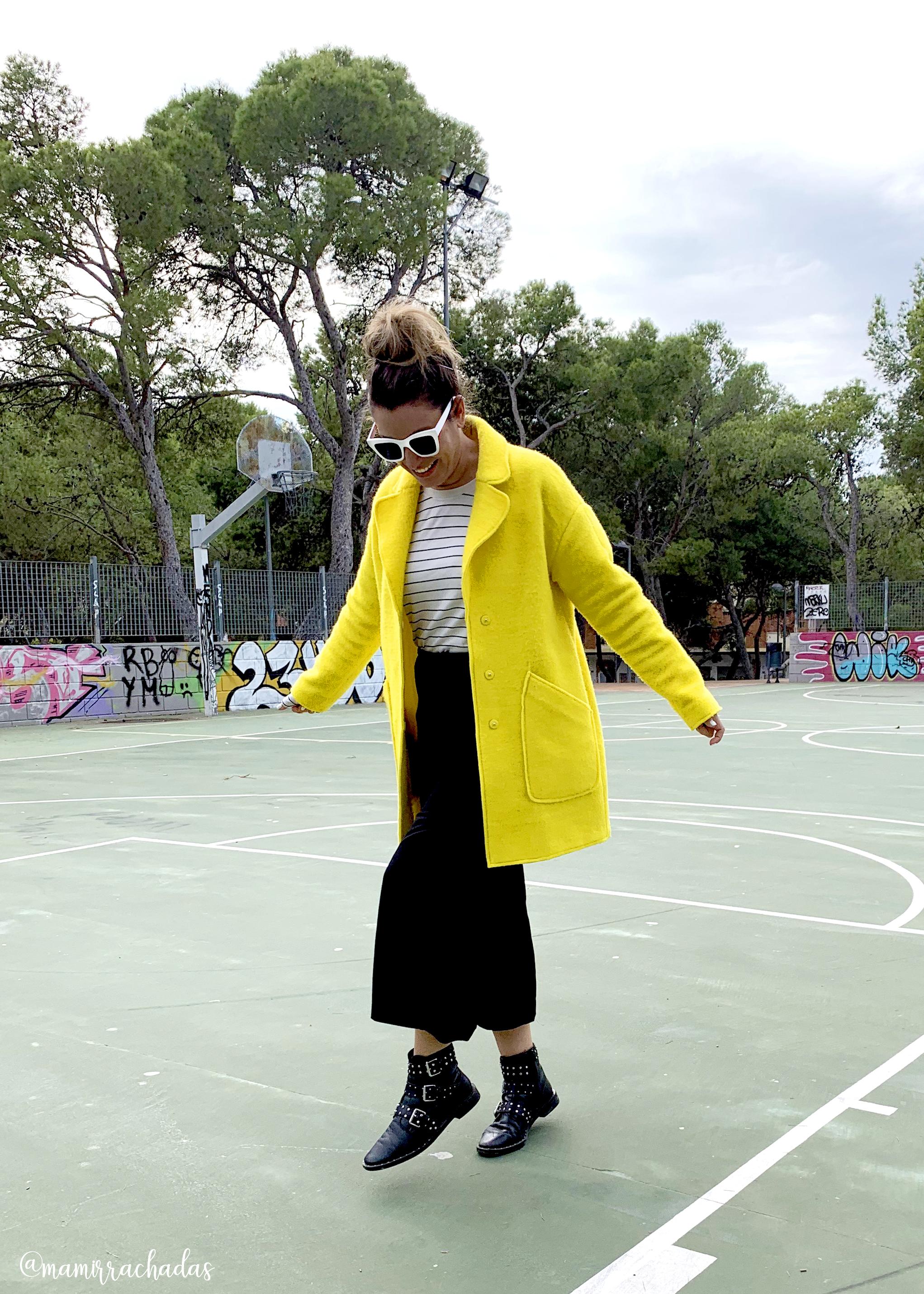 Color block, abrigo amarillo de Zara comprado en Vinted