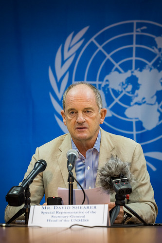 David Shearer, Special Representative of the Secretary General and Head of UNMISS | by UNMISS MEDIA