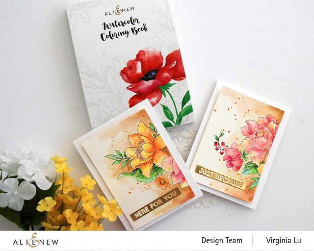 Altenew-Watercolor Coloring Book-Woodless Watercolor Pencil 24 Set -003
