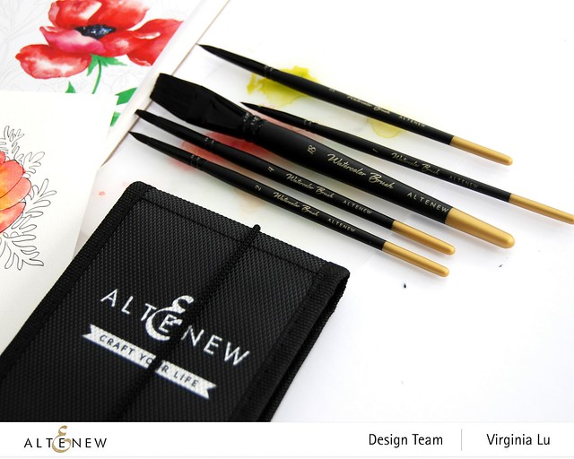 Altenew-Watercolor Coloring Book-Artists' Watercolor Brushes - Round