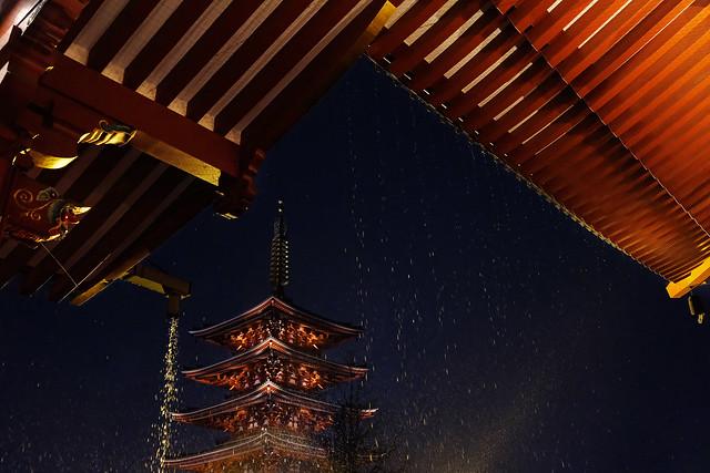 Sous la pluie, Sensō-ji, encore plus inouï