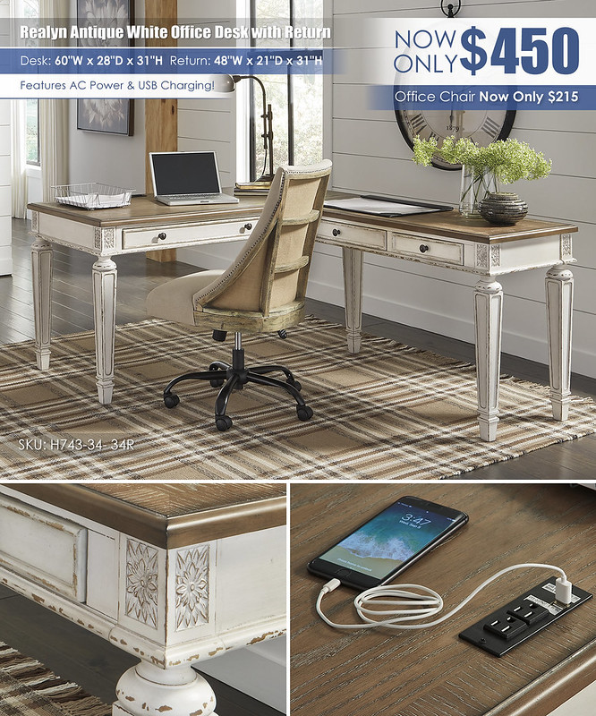 Realyn Home Office Desk and Return_H743_2021