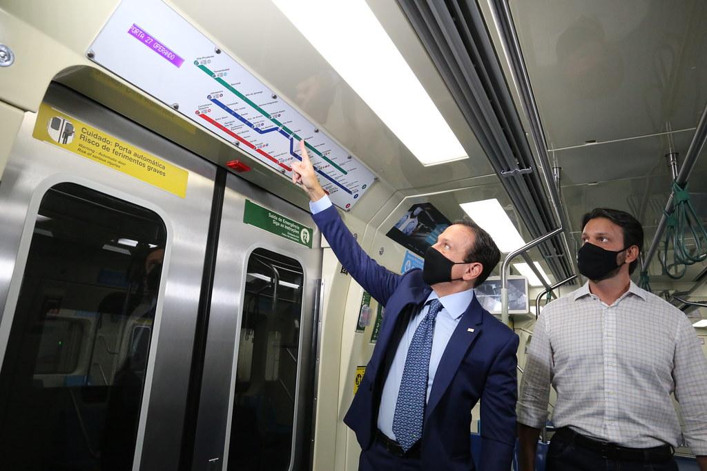 Anúncio de obra de Ampliação da Estação Vila Prudente do Metrô