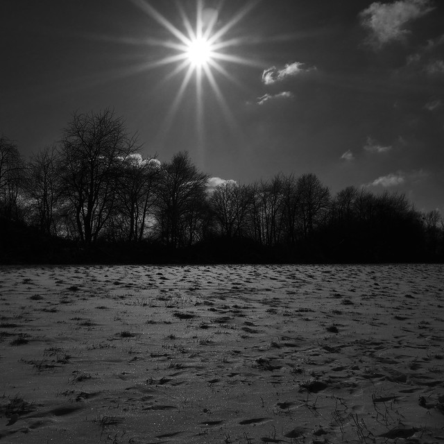 sunbeam after snowing
