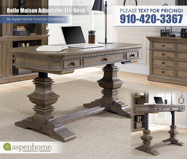 Belle Maison Adjustable Desk I94-R-360TS_333_332_333_378
