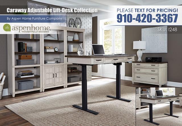 Caraway Lift Desk I248-R-360T_IUAB-301_332_333_378-Raised