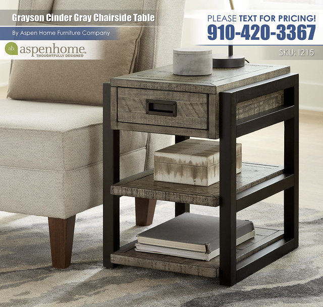 Grayson Cinder Gray Chairside End Table I215-9130_BTY