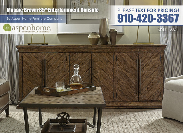 Mosaic Brown 85 in Entertainment Console I260-284_9100W-PEC_BTY