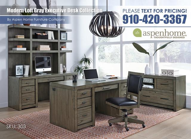 Modern Loft Gray Desk Collection_IML-R-303_318_319_378_366-GRY