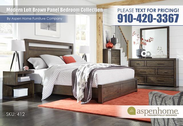 Modern Loft Brown Panel Bedroom IML-R-415_407_406_451N_4535_463_456-BRN