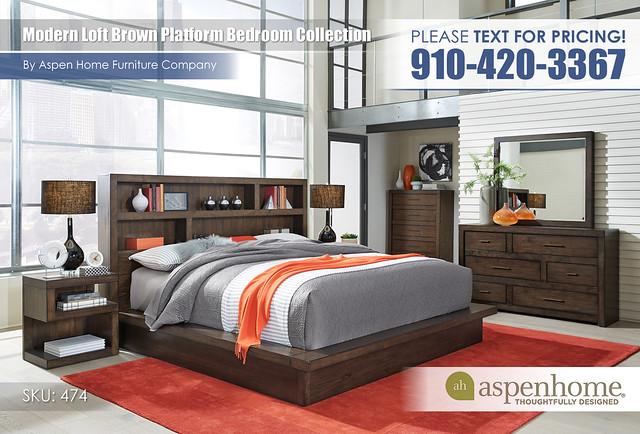 Modern Brown Loft Bedroom IML-R-474_475_476_451N_453_463_456-BRN