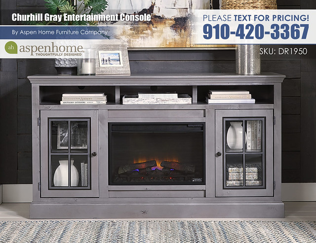 Churchill Gray Entertainment Console DR1950-GRY_BTY