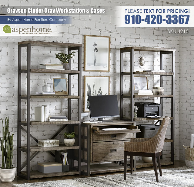 Grayson Cinder Gray Workstation and Display Cases I215-333_379_333-CIN_BTY