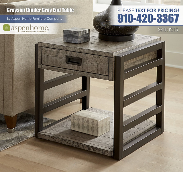 Grayson Cinder Gray End Table I215-9140-CIN_BTY