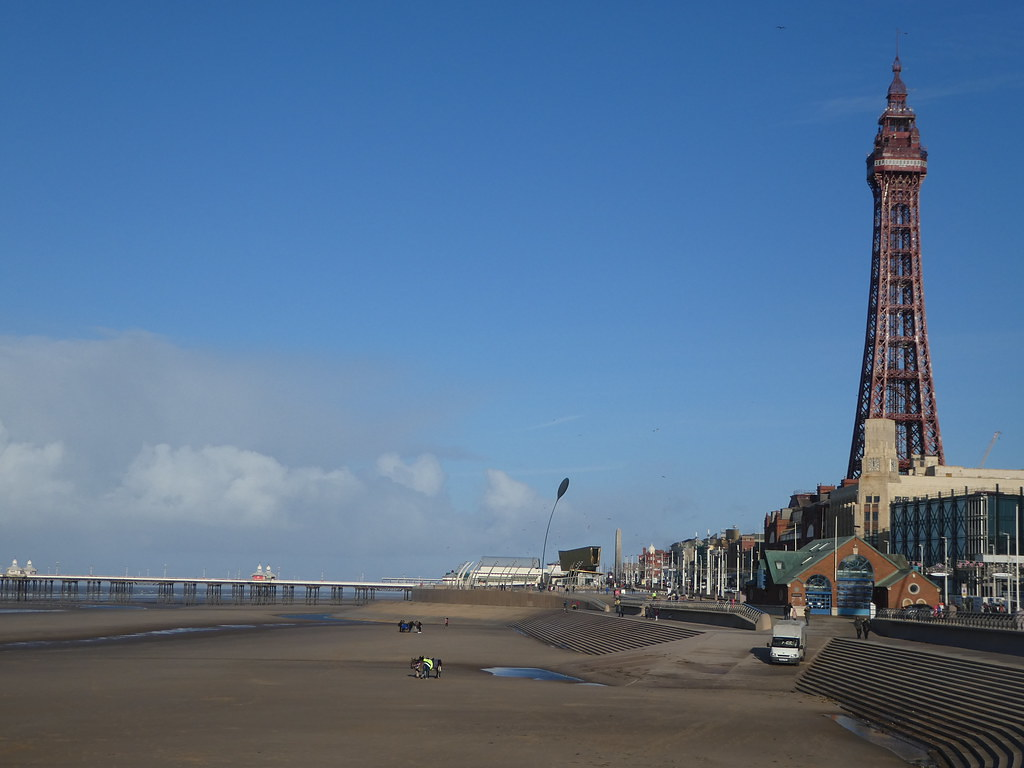 Blackpool Tower and the beach