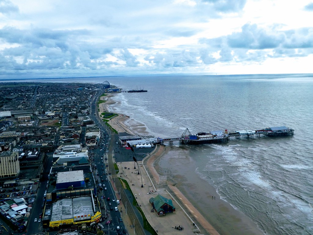 Views from the top of Blackpool Tower