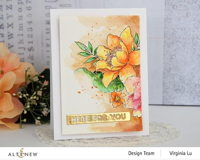 Altenew-Watercolor Coloring Book-Woodless Watercolor Pencil 24 Set -Essential Setiment Strips Die-002