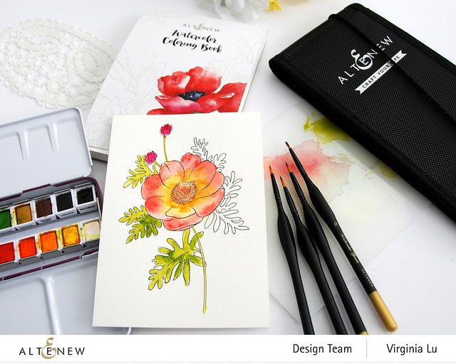 Altenew Watercoloring Book and Brushes