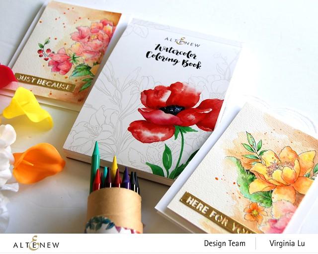 Altenew-Watercolor Coloring Book-Woodless Watercolor Pencil 24 Set
