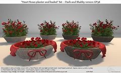 ".:Tm:.Creation ""Heart Roses planter and basket"" Set GP38"