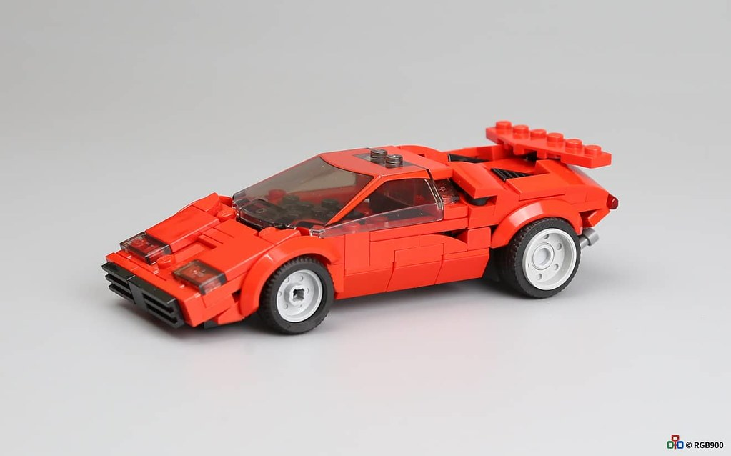 6 wide brick MOC Lamborghini Countach