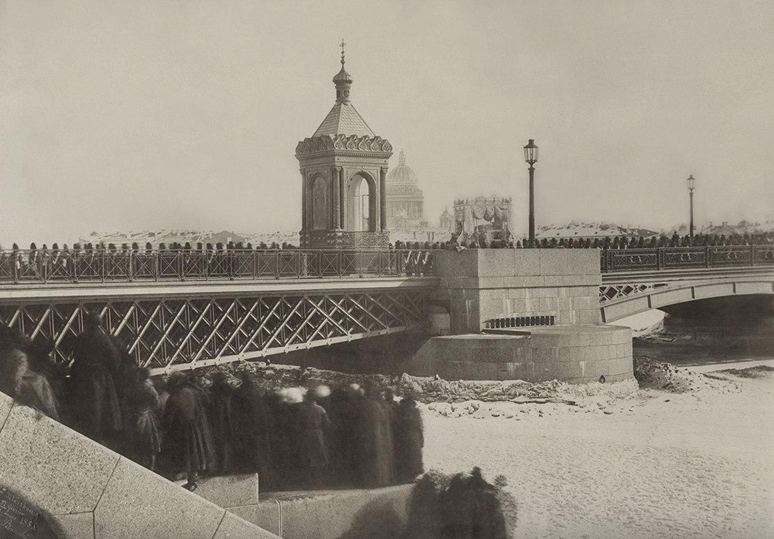 Перенос тела Николая I из Зимнего Дворца в Петропавловский Собор. 27 февраля 1855