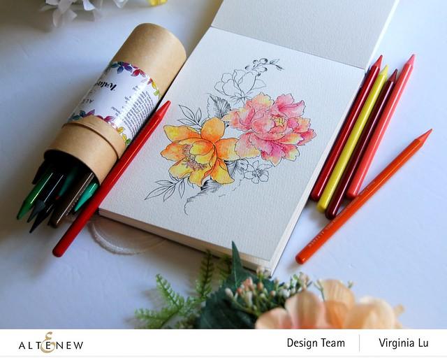 Altenew-Watercolor Coloring Book-Woodless Watercolor Pencil 24 Set -004