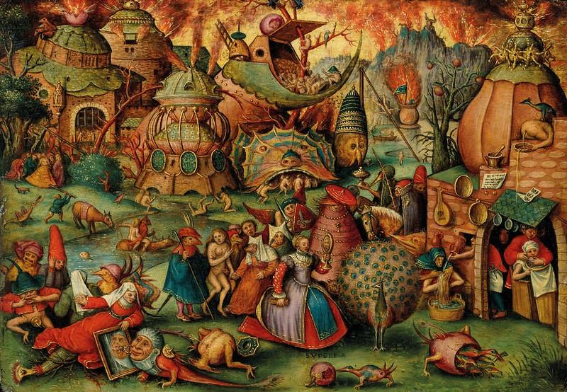 Follower of Pieter Brueghel the Elder - Allegory of Pride