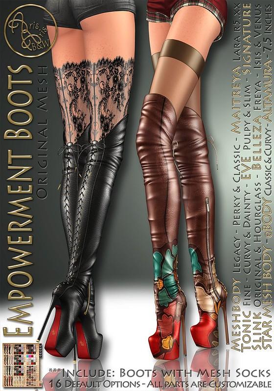 ArisArisB&W~Empowerment Boots~VENDOR
