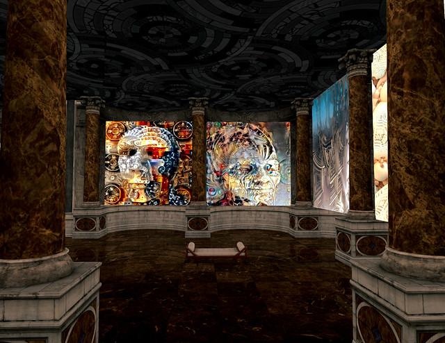 The Art of Kraven Klees At Sinful Retreat (2021) - Kraven Klees Faces of Fractal On Display