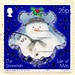 great stamp Isle of Man (Ellan Vannin / Mannin) 26p The Snowman (Schneemann, pupazzo di neve, bonhomme de neige, snögubbe, snømann, snemand, hóember, muñeco de nieve 雪人, снегови́к , lumiukko, boneco de neve, bałwan, om de zapada) timbre Île de Man, bollo