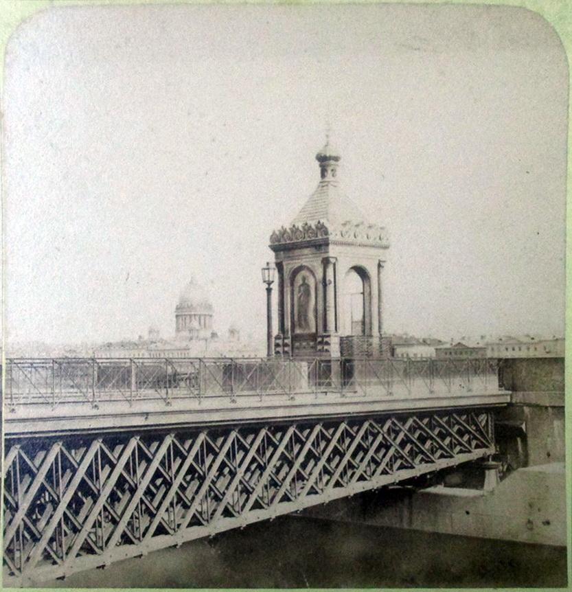 Часовня на Николаевском мосту. 1850-е.