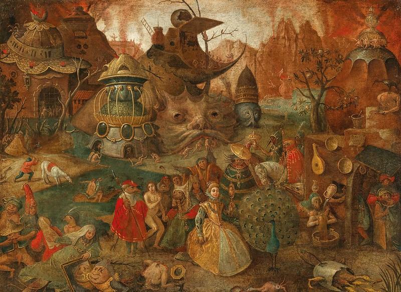 Follower of Pieter Brueghel the Elder - An Allegory of Superbia